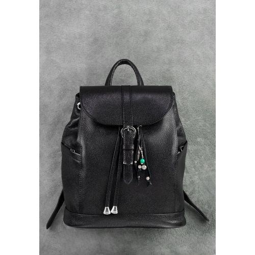 691273b5c44e Кожаный рюкзак BLANKNOTE Олсен оникс купить в Киеве недорого