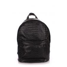Рюкзак жіночий POOLPARTY backpack-croco-black чорний