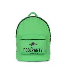 Рюкзак молодежный POOLPARTY backpack-kangaroo-green зеленый