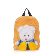 Детский рюкзак POOLPARTY с медведем kiddy-backpack бежевый