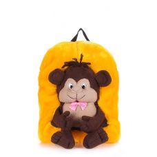 Дитячий рюкзак POOLPARTY з мавпою kiddy-backpack-monkey-sunny жовтий