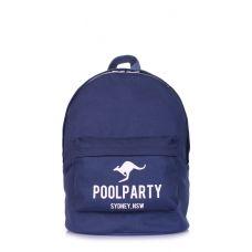 Рюкзак молодежный POOLPARTY backpack-kangaroo-darkblue синий
