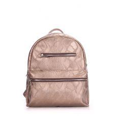 Рюкзак жіночий POOLPARTY Mini mini-bckpck-snake-gold золотий