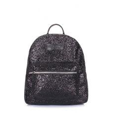 Рюкзак жіночий блискучий POOLPARTY Xs xs-bckpck-glitter-black чорний