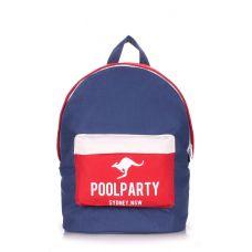 Рюкзак молодежный POOLPARTY backpack-darkblue-red-white синий