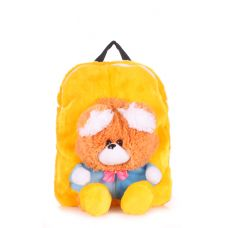 Детский рюкзак POOLPARTY с медведем kiddy-backpack-bear-sunny желтый