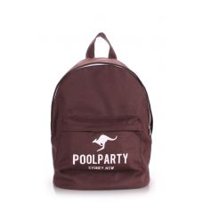Рюкзак молодежный POOLPARTY backpack-kangaroo-brown коричневый