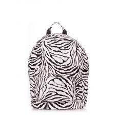 Рюкзак жіночий POOLPARTY backpack-pu-zebra білий