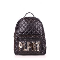 Рюкзак жіночий POOLPARTY Mini Plprt plprt-bckpck-stitch-black чорний