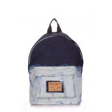 Рюкзак джинсовый POOLPARTY backpack-bleach-jeans голубой