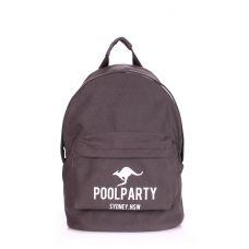 Рюкзак молодежный POOLPARTY backpack-kangaroo-grey серый
