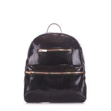 Рюкзак жіночий POOLPARTY Mini mini-bckpck-lizard-black чорний