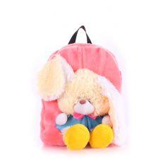 Дитячий рюкзак POOLPARTY з зайцем kiddy-backpack-rabbit-rose рожевий