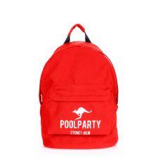 Рюкзак молодежный POOLPARTY backpack-kangaroo-red красный