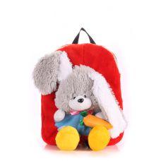 Дитячий рюкзак POOLPARTY з зайцем kiddy-backpack-rabbit-red червоний