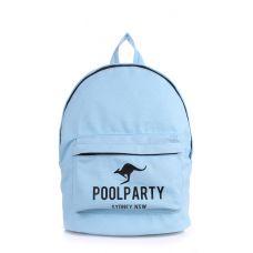 Рюкзак молодежный POOLPARTY backpack-kangaroo-blue голубой