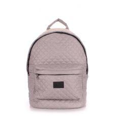 Рюкзак стеганый POOLPARTY backpack-theone-grey серый