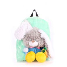 Дитячий рюкзак POOLPARTY з зайцем kiddy-backpack-rabbit-green зелений