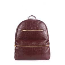 Рюкзак жіночий POOLPARTY Mini mini-bckpck-croco-коричневий brown