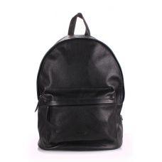 Кожаный рюкзак POOLPARTY backpack-leather-black черный