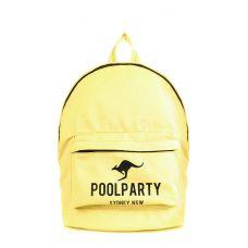 Рюкзак молодежный POOLPARTY backpack-kangaroo-yellow желтый