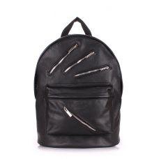 Кожаный рюкзак POOLPARTY Rockstar backpack-rockstar-black черный