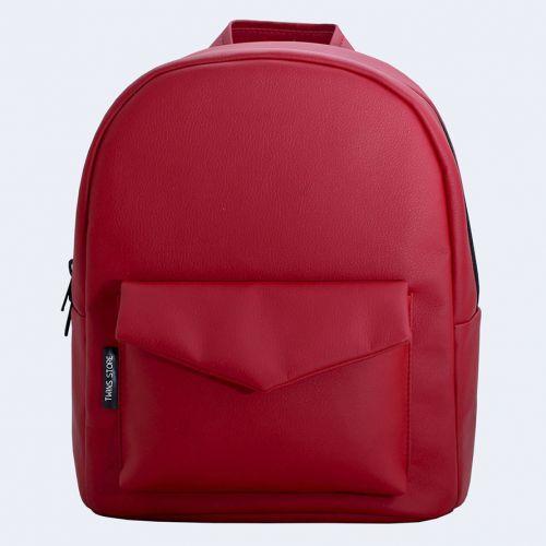 69bb64c1f7e5 Красный кожаный рюкзак TWINSSTORE Р36 от производителя недорого