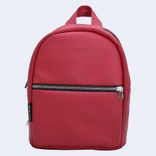 Червоний шкіряний рюкзак small TWINSSTORE Р60