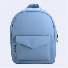 Блакитний шкіряний рюкзак TWINSSTORE Р44