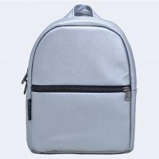 Срібний шкіряний рюкзак small TWINSSTORE Р58