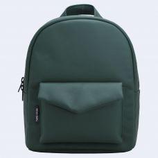 Зелений шкіряний рюкзак TWINSSTORE Р33