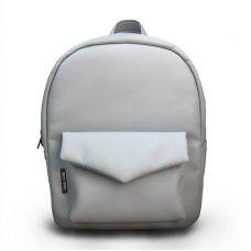 Світло-сірий шкіряний рюкзак TWINSSTORE Р34