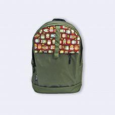 Зелений рюкзак з совами TWINSSTORE Р38