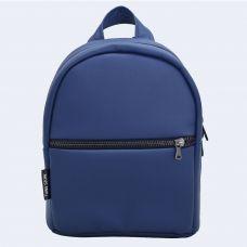 Синій шкіряний рюкзак small TWINSSTORE Р59