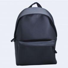 Чорний шкіряний великий рюкзак TWINSSTORE Р57