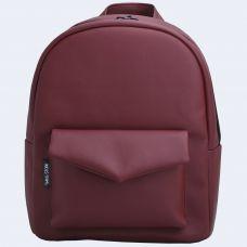 Бордовий шкіряний рюкзак TWINSSTORE Р31