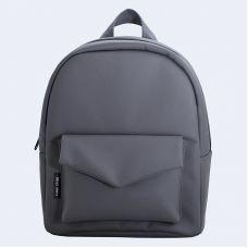Темно-сірий шкіряний рюкзак TWINSSTORE Р53