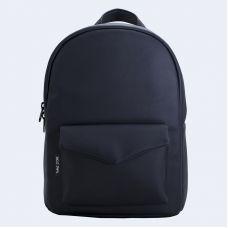 Чорний шкіряний рюкзак TWINSSTORE Р32