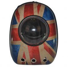 Рюкзак-переноска з ілюмінатором U-Pet для котів і невеликих собак прапор Великобританії