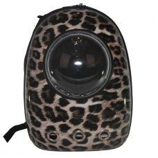 Рюкзак-переноска з ілюмінатором U-Pet для котів і невеликих собак Леопард