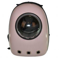Рюкзак-переноска з ілюмінатором U-Pet для котів і невеликих собак рожевий